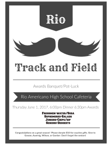 2017 Rio Americano High School Track and Field Awards Banquet