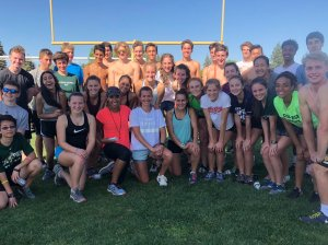 10,000M champion and Olympian, Kim Conley, paid a visit to the track team on Monday, May 7, 2018.