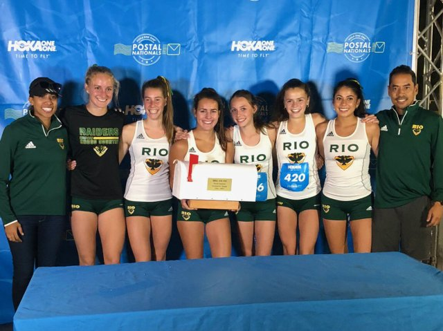 The Rio Varsity Girls team won the HOKA ONE ONE Postal Nationals Flagship Event on October 17, 2018.